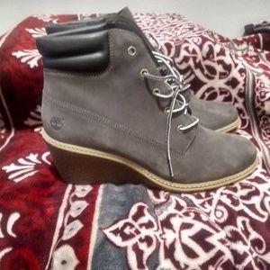 Timberland wedge heel boots